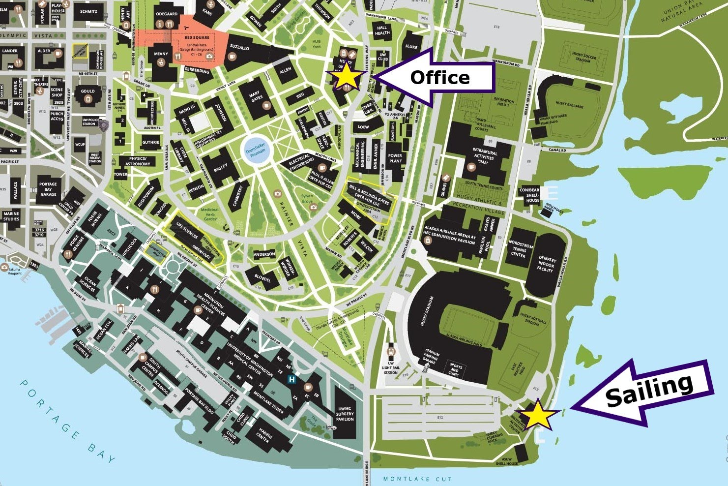 Location of WYC Office and the Port the WYC uses